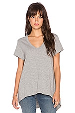 Shrunken Boyfriend Tee in Grey Heather