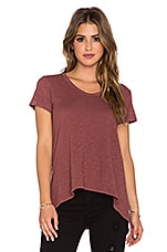 Shrunken Boyfriend Tee in Mulberry