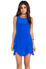 Wish Petal Dress in Cobalt