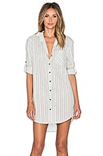Wilde Heart Boundless Oversized Shirt Dress in Grey