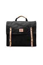 Wax Coated Messenger in Black