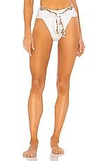 WeWoreWhat Riviera Bikini Bottom in Gold