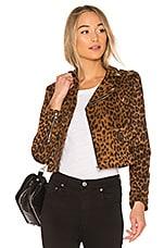 WYLDR Real Love Biker Jacket in Leopard