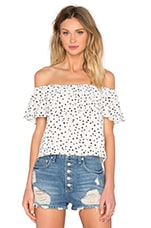 WYLDR Indie Summer Frill Top in Ivory