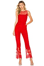 X by NBD Rafaela Jumpsuit in Red Rose