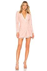X by NBD Que Bonita Lace Tux Dress in Blush Pink