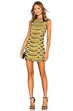 X by NBD Monty Embellished Python Mini Dress in Yellow