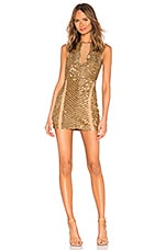 X by NBD Matilda Embellished Mini Dress in Gold