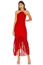 X by NBD Mulan Midi Dress in Racing Red