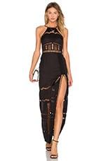 X by NBD Alessandra Maxi Dress in Black