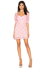 X by NBD Haze Mini Dress in Light Pink