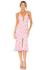X by NBD Sandra Midi Dress in Light Pink