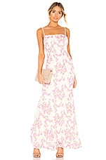 X by NBD Lovely Gown in Pink & Ivory Ground
