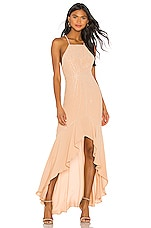 X by NBD Annie Embellished Dress in Nude