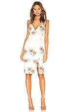 X by NBD Trey Midi Dress in Ivory & Pink