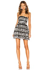 X by NBD Morrison Embellished Mini Dress in Multicolor Silver