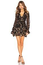 X by NBD Journey Embellished Mini Dress in Gold & Black