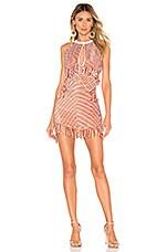 X by NBD Sean Embellished Mini Dress in Orange & White