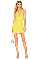 X by NBD Jack Dress in Highlight Yellow