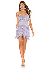 X by NBD Plume Suede Mini Dress in Lavender
