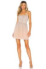 X by NBD Katy Mini Dress in Silver & Nude