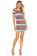 X by NBD Ana Embellished Mini Dress in Multicolor