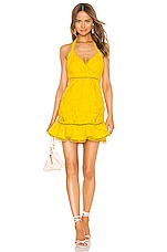 X by NBD Luxley Mini Dress in Beeswax Yellow