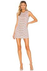 X by NBD Monty Embellished Python Mini Dress in Blush