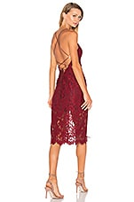 X by NBD Beau Dress in Bordeaux