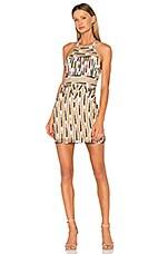 X by NBD Kenya Beaded Dress in Aztec