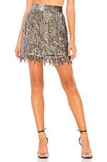 X by NBD Xavi Embellished Sequin Skirt in Silver
