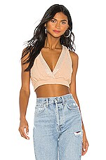 X by NBD Annie Embellished Top in Nude