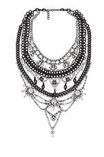 XEVANA x REVOLVE 1 Necklace in Crystal & Gunmetal