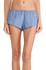 Shaya Shorts Chambray in Blue