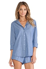 Bella Button Up Chambray in Blue