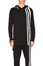 3 Stripes Hoodie in Black