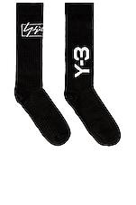 Y-3 Yohji Yamamoto WO NYL Sock in Black