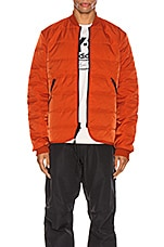 Y-3 Yohji Yamamoto Padded Liner Jacket in Icon Orange