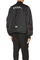 Y-3 Yohji Yamamoto Graphic Bomber Jacket in Black