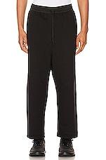 Y-3 Yohji Yamamoto Terry Cropped Pants in Black