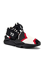 Y-3 Yohji Yamamoto Kaiwa Knit in Off White & Black Y3 & Yohji Red Y3