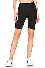YEAR OF OURS Ribbed Biker Short in Black
