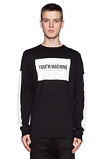 Youth Machine Index Long Sleeve Tee in Black