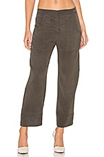 High Waisted Chino Pant in Cadet