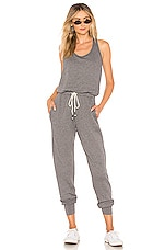 Young, Fabulous & Broke Eberhart Jumpsuit in Solid Charcoal