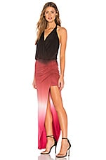 Young, Fabulous & Broke Birdseye Maxi Dress in Ruby Ombre