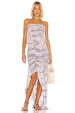 Young, Fabulous & Broke Dreamboat Dress in Lilac Ikat Wash
