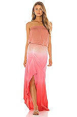 Young, Fabulous & Broke Dreamboat Dress in Hot Pink Ombre