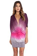 Jennings Dress in Plum Ombre