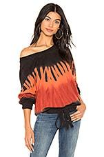 Young, Fabulous & Broke Bay Area Sweatshirt in Blood Orange Flame Wash